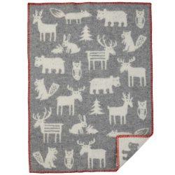 Barnfilt Forest grå ekologisk ull