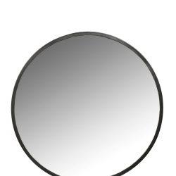 Spegel rund svart ram