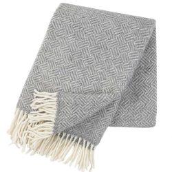 Ullpläd Samba grå 100% lammull