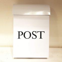 Postlåda vit liten