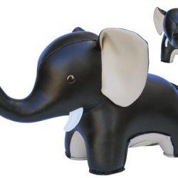 Elefant svart bokstöd Züny