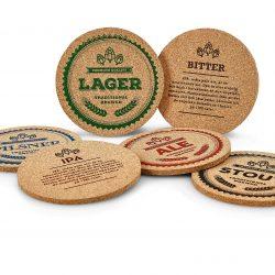 Glasunderlägg öl kork 6-pack