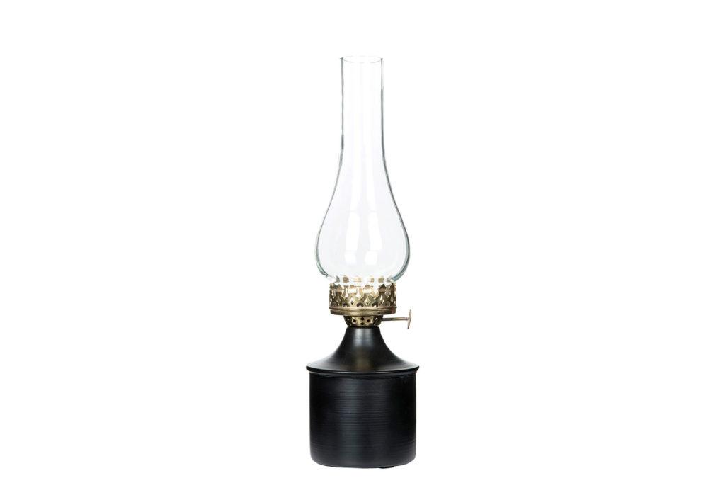 Svart lampa för värmeljus