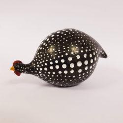 Pärlhöna svart stor
