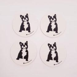 Glasunderlägg Bulldog 4-pack