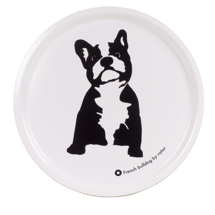 Bricka svart/vit Bulldog