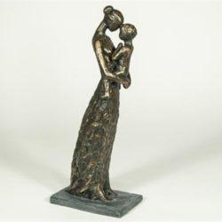 Statyett Mor med barn