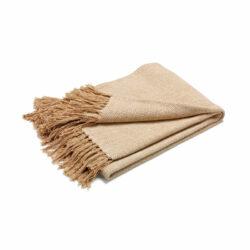 Pläd Fishbone beige/natur