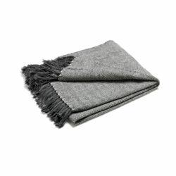 Pläd Fishbone grå/natur