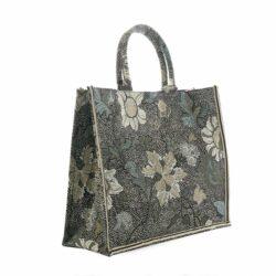 Shopper Black Flower Linen